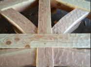 Hand Hewn Mortise and Tenon Truss Detail