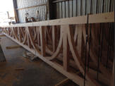 mortise and tenon trusses with curved webs