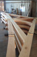 Mortise & Tenon truss with curved chord